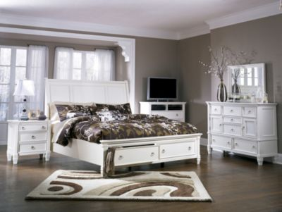 Ashley Prentice 4 Piece King Storage Bedroom Set