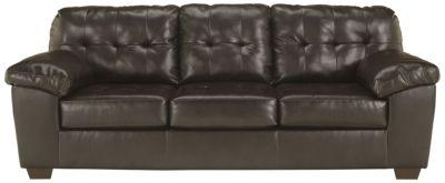 Ashley Alliston Chocolate Bonded Leather Sofa Homemakers