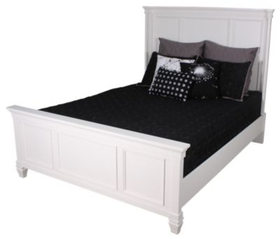 Ashley Prentice Contemporary White King Bed Homemakers