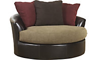 Ashley Sanya Microfiber Swivel Accent Chair