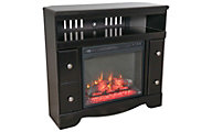 Ashley Shay Corner TV Stand with Fireplace Insert