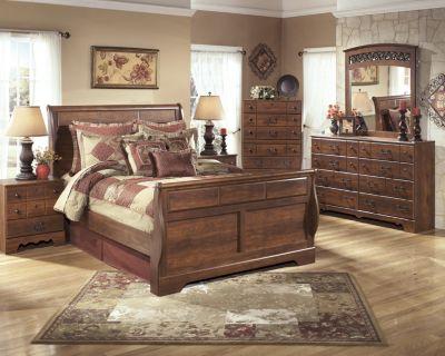 Ashley Timberline 4 Piece Queen Sleigh Bedroom Set