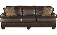 Ashley Axiom 100% Leather Sofa