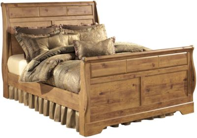 Ashley Bittersweet Queen Sleigh Bed