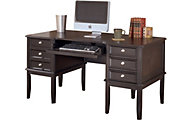 Ashley Carlyle Leg Desk with Storage