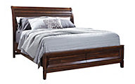 Aspen Walnut Park King Storage Bed