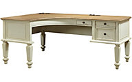 Aspen Cottonwood 72-Inch Curved Desk