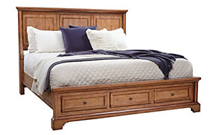 Aspen Alder Creek King Panel Storage Bed