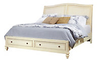 Aspen Cottonwood Queen Sleigh Storage Bed