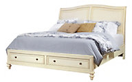 Aspen Cottonwood King Sleigh Storage Bed
