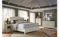 Aspen Cottonwood 4-Piece Queen Sleigh Bedroom Set