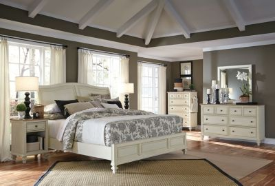 Aspen Cottonwood 4-Piece King Sleigh Bedroom Set