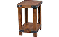 Aspen Industrial Fruitwood Chairside Table