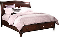 Aspen Lincoln Park King Sleigh Storage Bed