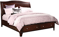 Aspen Lincoln Park California King Sleigh Storage Bed