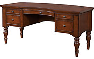 Aspen Villager 66-Inch Curved Top Half Pedestal Desk