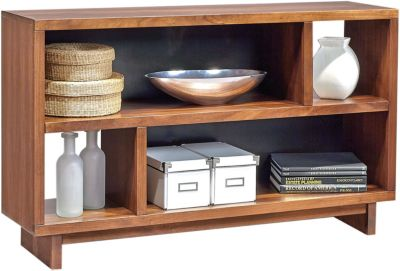Aspen Walnut Heights Amber Console Table