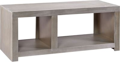 Aspen Contemporary Driftwood 2-Shelf Coffee Table