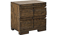 Aspen Dimensions Reclaimed Wood 2-Drawer Nightstand