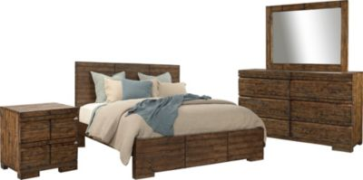 Aspen Dimensions 4-Piece King Reclaimed Wood Bedroom Set