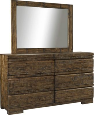 Aspen Dimensions Reclaimed Wood Dresser with Mirror
