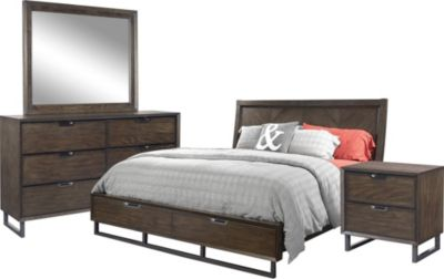 Aspen Harper Point 4-Piece Queen Storage Bedroom Set