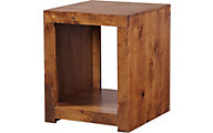 Aspen Contemporary Fruitwood End Table