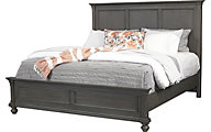 Aspen Oxford Peppercorn King Panel Bed