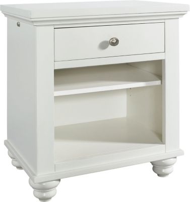 Aspen Cambridge White Nightstand