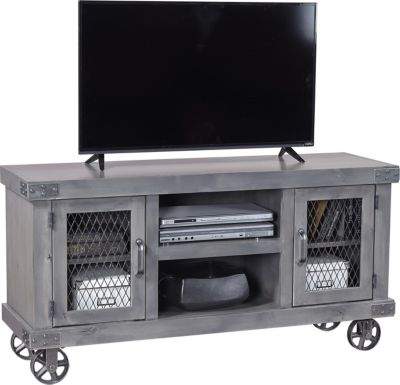 Aspen Industrial 55-Inch Gray TV Stand