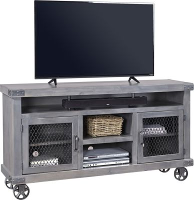 Aspen Industrial 65-Inch Gray TV Stand