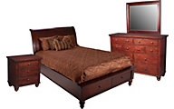 Aspen Cambridge Queen Bed/Dresser/Mirror/Nightstand