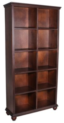 Aspen Casual Traditional Cherry 77-Inch Cube Bookcase