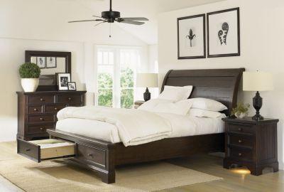 Aspen Bayfield 4 Piece Queen Storage Bedroom Set Homemakers Furniture