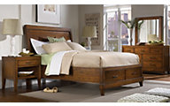 Aspen Tamarind 4-Piece Queen Storage Bedroom Set