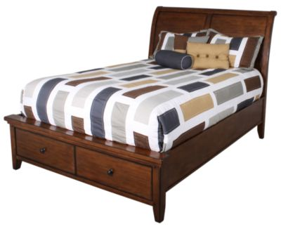 Aspen Cross Country Queen Sleigh Storage Bed
