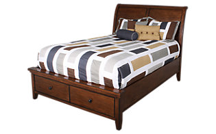 Aspen Cross Country King Sleigh Storage Bed