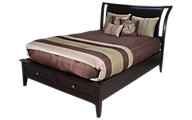 Aspen Kensington Queen Sleigh Storage Bed