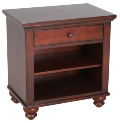 Aspen Cambridge Brown 1-Drawer Nightstand