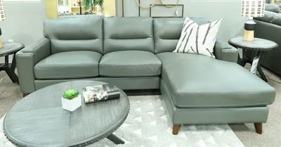 Amax Leather Miami 100% Leather 2-Piece Sectional