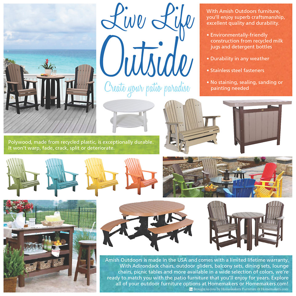 Trusted Amish craftsmanship and durable materials mean patio furniture you'll enjoy for years.