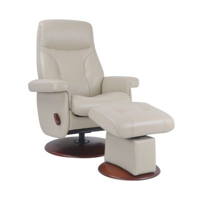 Benchmaster Biltmore Cream Rocking Glider Chair & Ottoman