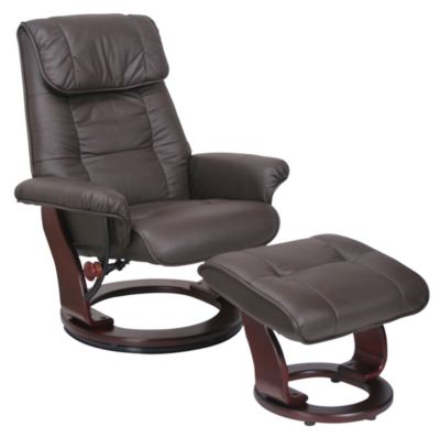 Benchmaster Ventura Leather Chair & Ottoman