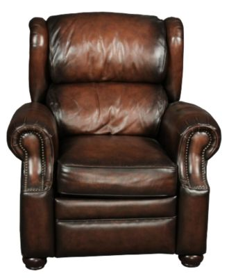 Bernhardt Warner 100% Leather Recliner
