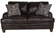 Bernhardt Tarleton 100% Leather Loveseat