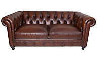 Bernhardt London Club 100% Leather Loveseat