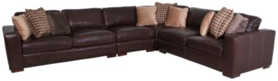 Bernhardt Dorian 100% Leather 4-Piece Sectional