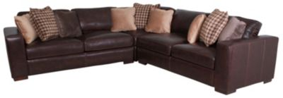 Bernhardt Dorian 100% Leather 3-Piece Sectional