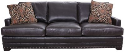 Bernhardt Cantor 100% Leather Sofa