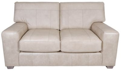 Best Chair Millport Cream Leather Loveseat